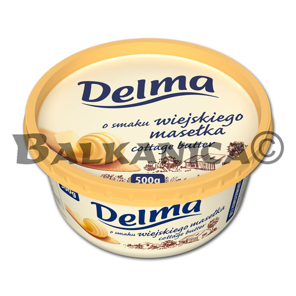 500 G MARGARINE EXTRA WITH COTTAGE BUTTER FLAVOUR DELMA