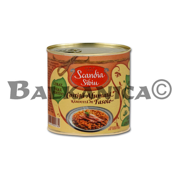 400 G BACON SMOKED WITH BEANS SCANDIA SIBIU
