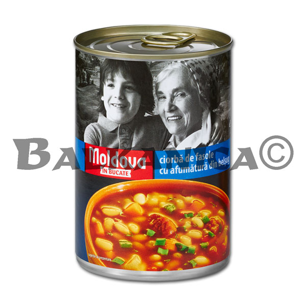 400 G BEAN SOUP WITH SMOKED MEAT MOLDOVA IN BUCATE