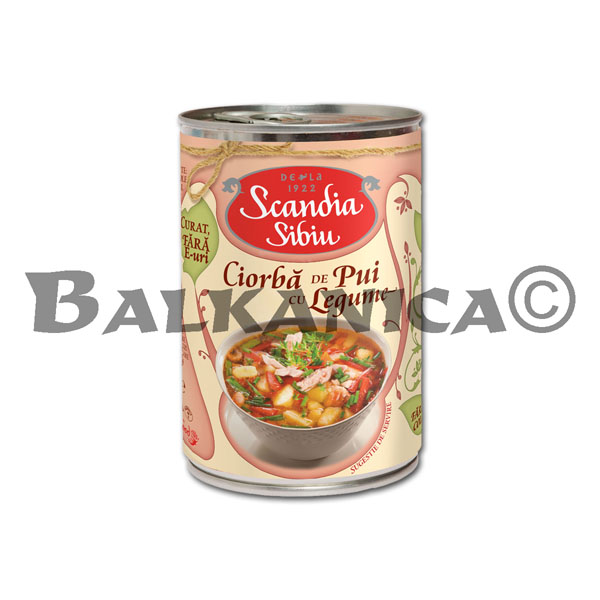 400 G CHICKEN SOUP WITH VEGETABLES SCANDIA SIBIU