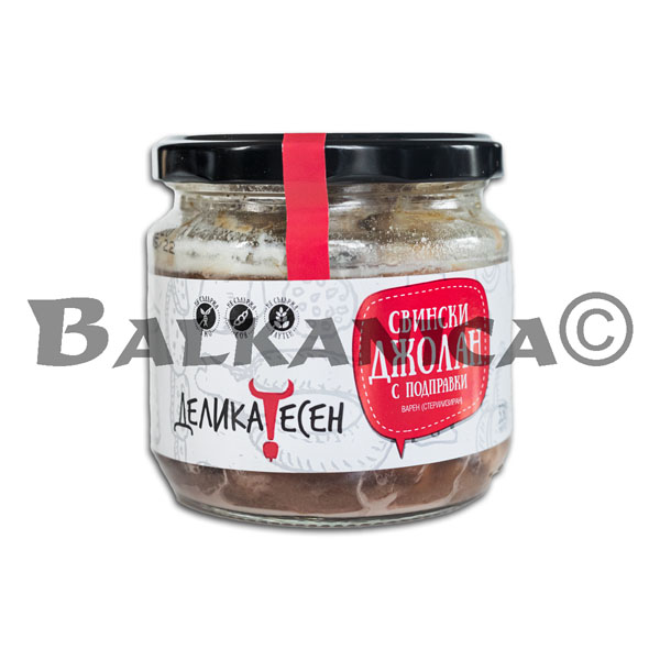330 GR KNUCKLE PORK WITH SPICES IN JAR DELICATESSEN