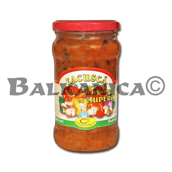 300 GR VEGETABLE SAUCE ZACUSCA WITH MUSHROOMS CONSERVFRUCT