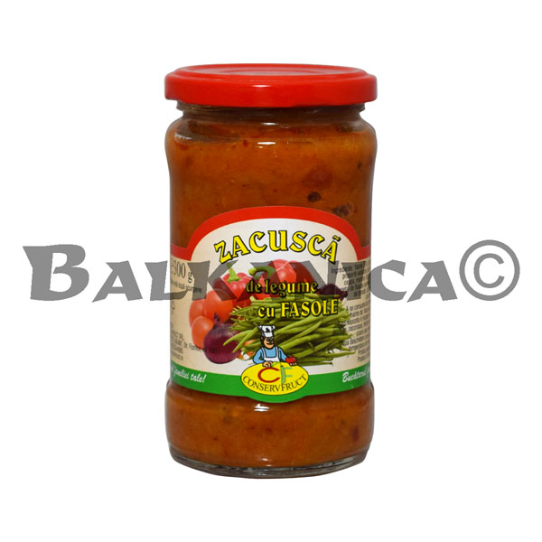 300 GR ZACUSCA VEGETABLE SAUCE WITH BEANS CONSERVFRUCT