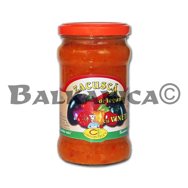 300 GR ZACUSCA VEGETABLE SAUCE WITH EGGPLANT CONSERVFRUCT