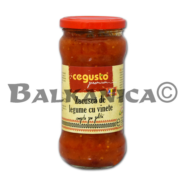 350 GR ZACUSCA VEGETABLES WITH EGGPLANT CEGUSTO CONSERVFRUCT