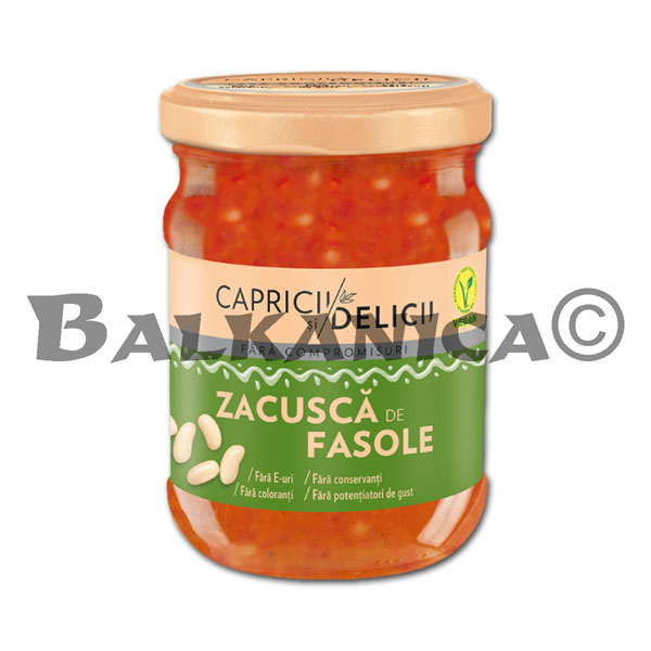 500 GR ZACUSCA WITH WHITE BEANS CAPRICII SI DELICII