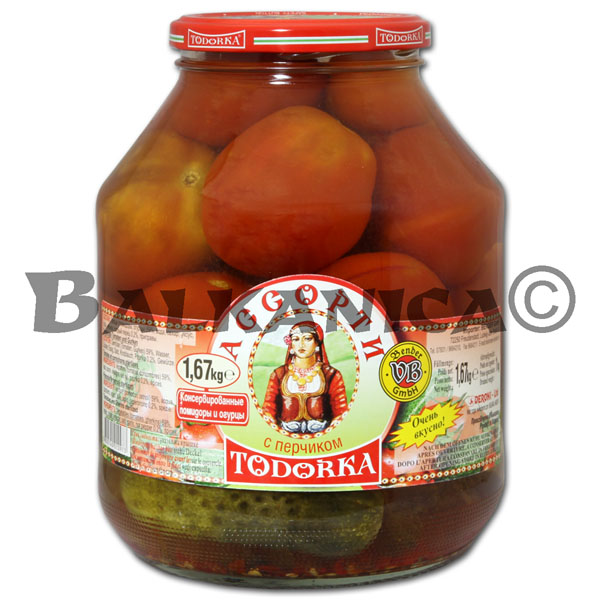 1.67 KG TOMATOES AND CUCUMBERS ASSORTED TODORKA