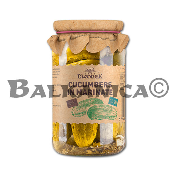 860 GR PICKLED CUCUMBERS DWOREK
