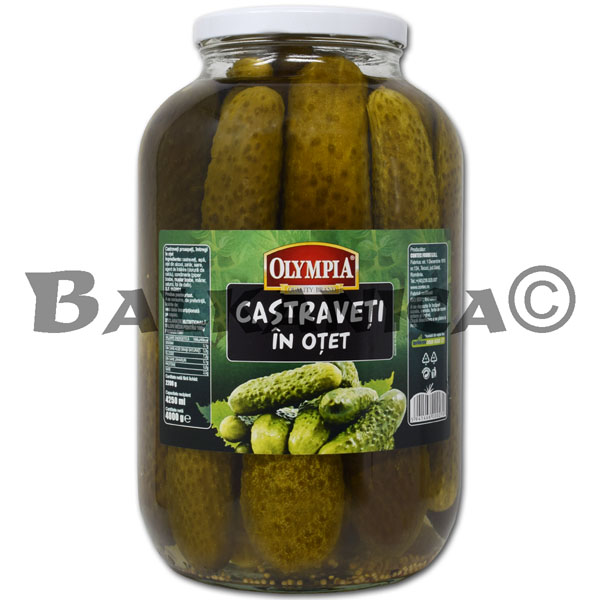 4 KG PICKLED CUCUMBERS IN VINEGAR OLYMPIA