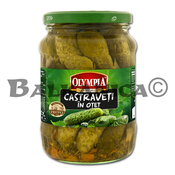 680 G CUCUMBERS IN VINEGAR 6-9 CM OLYMPIA