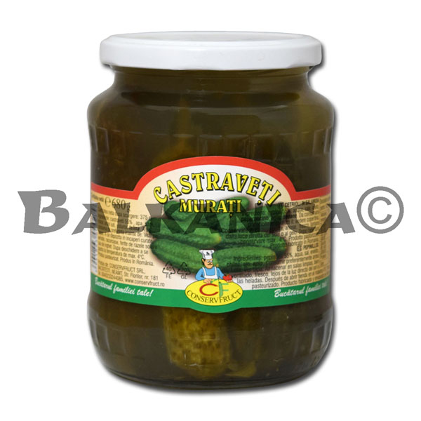 680 GR PICKLED CUCUMBERS CONSERVFRUCT
