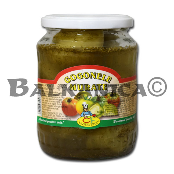 680 GR PICKLED GREEN TOMATOES CONSERVFRUCT