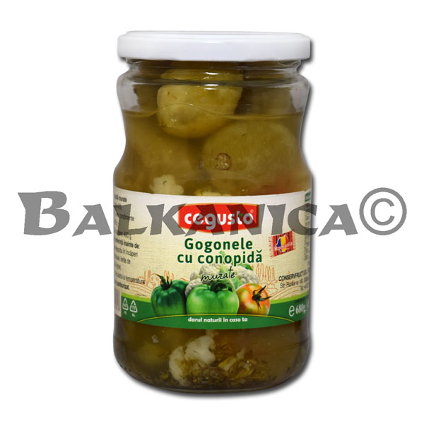 680 G PICKLED GREEN TOMATOES WITH CAULIFLOWER CEGUSTO CONSERVFRUCT
