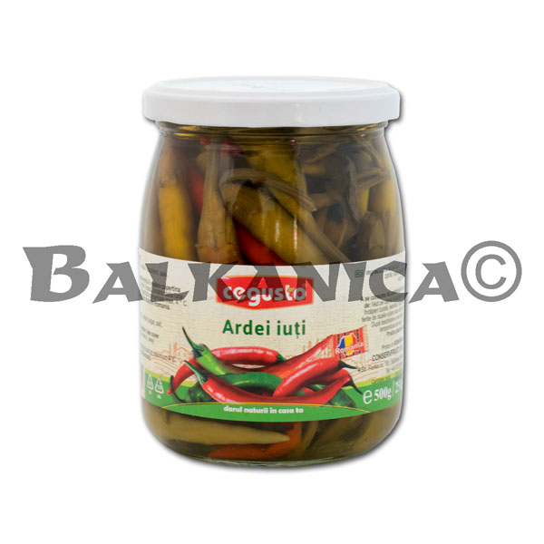 500 GR CHILI PEPPERS CEGUSTO CONSERVFRUCT