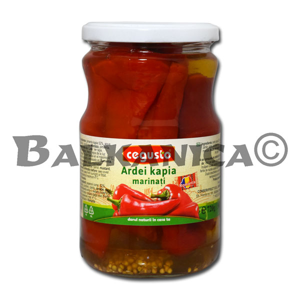 720 G RED PEPPERS MARINATED CEGUSTO CONSERVFRUCT