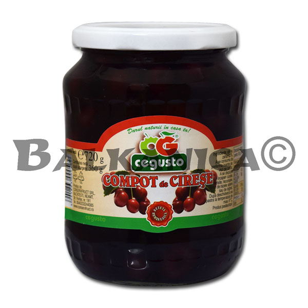 720 G COMPOTE CHERRY CEGUSTO CONSERVFRUCT
