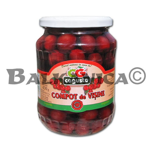 720 GR COMPOTE WITH SOUR CHERRIES CEGUSTO CONSERVFRUCT