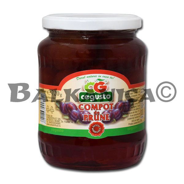 720 G COMPOTE PLUMS CEGUSTO CONSERVFRUCT