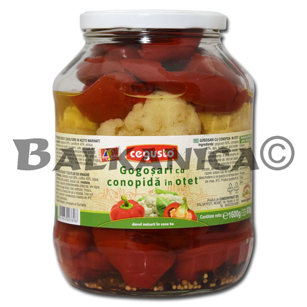1.6 KG BELL PEPPERS WITH CAULIFLOWER IN VINEGAR CEGUSTO CONSERVFRUCT