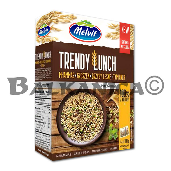 400 GR TRENDY LUNCH CUSCUS GUISANTES SETAS TOMILLO MELVIT