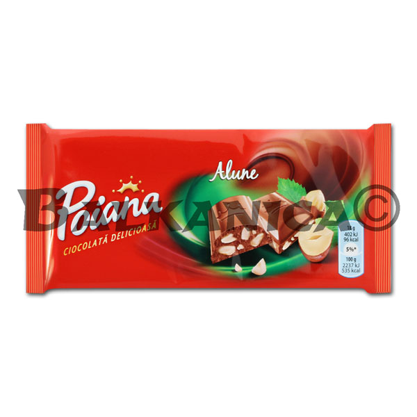 90 G CHOCOLATE AVELLANAS POIANA