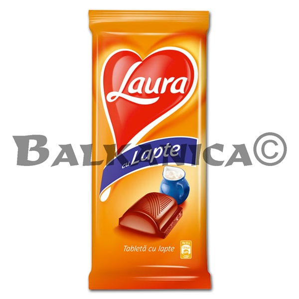 80 G CHOCOLATE LECHE LAURA