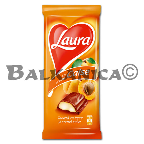95 G CHOCOLATE CREMA DE ALBARICOQUE LAURA