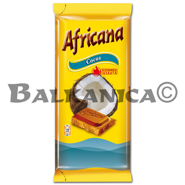 90 G CHOCOLATE CON COCO AFRICANA