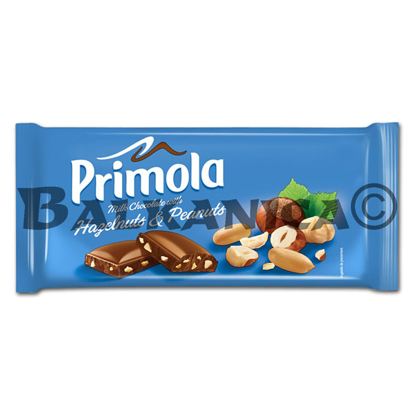 80 G CHOCOLATE HAZELNUT AND PEANUT PRIMOLA