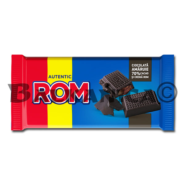 88 GR CHOCOLATE 70% CACAO ROM
