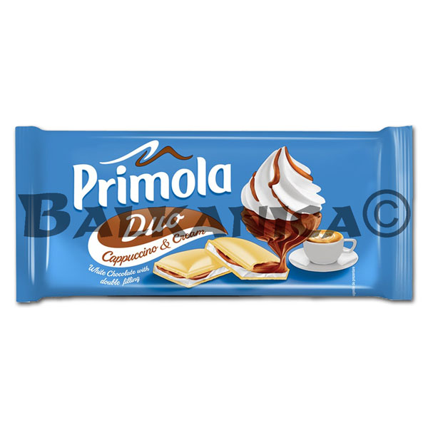 87 G CHOCOLATE WHITE CAPPUCCINO AND CREAM DUO PRIMOLA