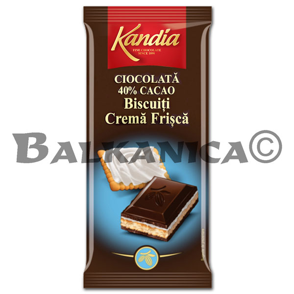 115 G CHOCOLATE AMARGO 40% CON GALLETAS Y NATA KANDIA
