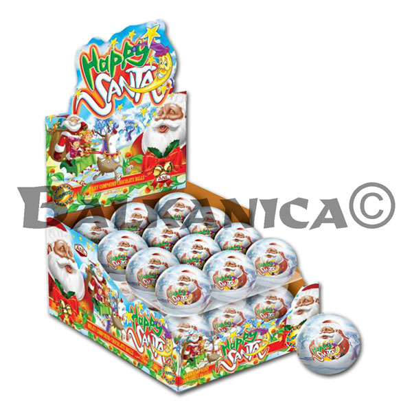 34 G BOLA CHOCOLATE CON SORPRESA HAPPY SANTA
