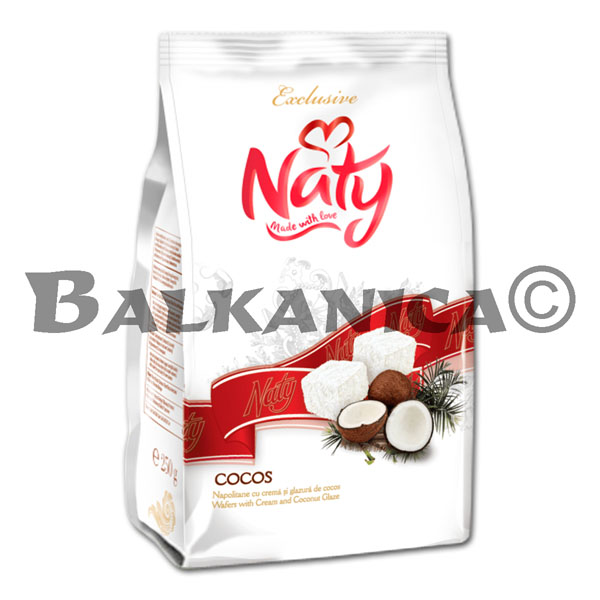 250 GR BARQUILLOS COCO GLASEADOS NATY