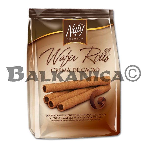 200 GR BARQUILLOS ROLLS CACAO PREMIUM NATY