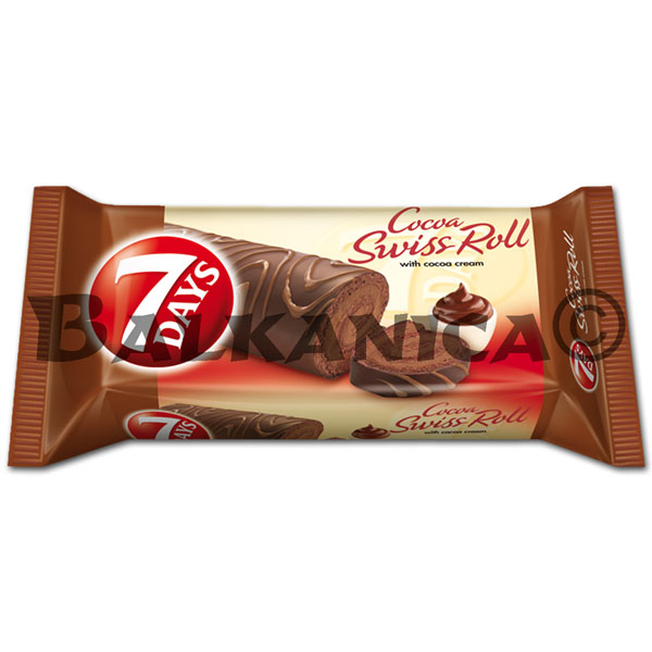 200 GR ROLLO CACAO CON GLASEADO 7 DAYS
