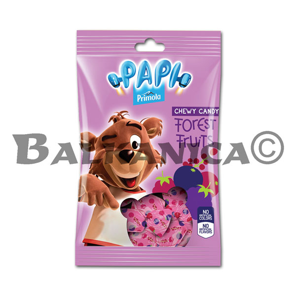 200 G CANDIES CHEWING BERRIES PAPI PRIMOLA