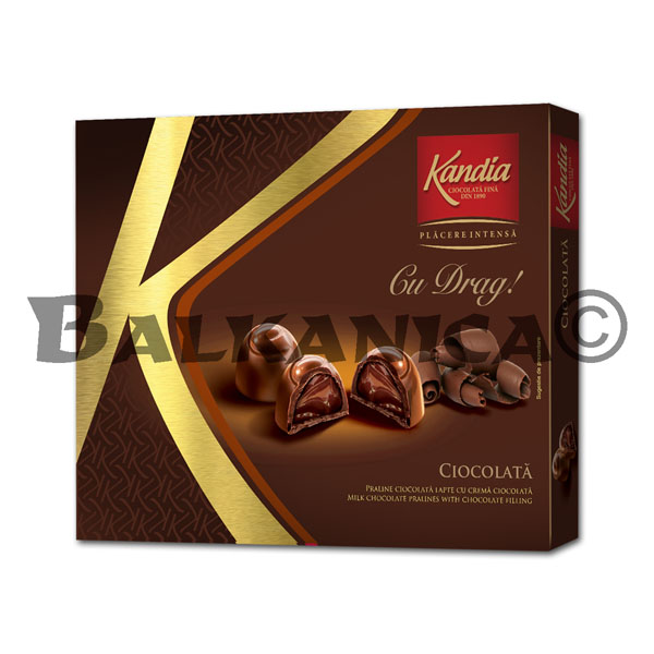 106.5 G PRALINE WITH CHOCOCLATE CREAM WITH TENDERNESS KANDIA