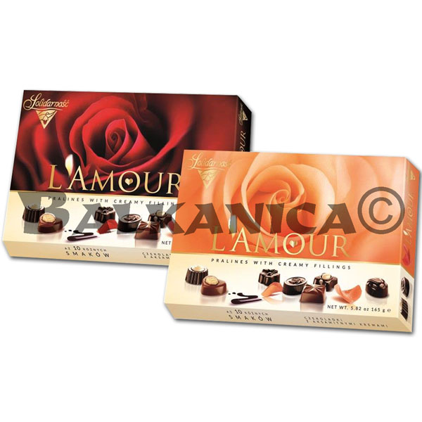 165 G BOMBONES DE CHOCOLATE MIX L'AMOUR SOLIDARNOSC