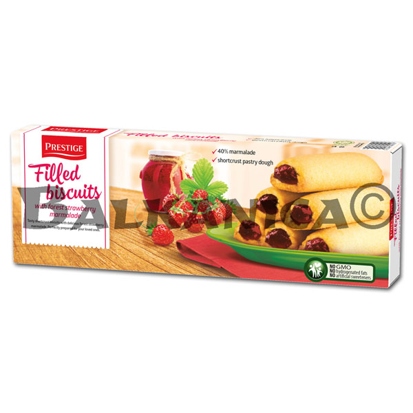 155 G SMALL CAKES WILD STRAWBERRIES NASLADKI PRESTIGE