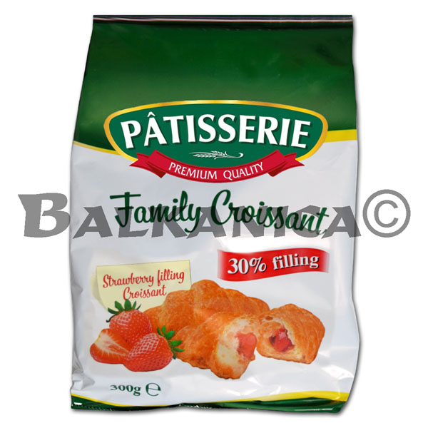300 G CROISSANT STRAWBERRY FAMILY PACK PATISSERIE DERPAN