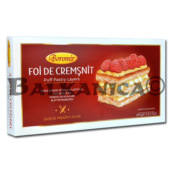 380 GR SHEETS FOR PASTRY CREMSNIT BOROMIR