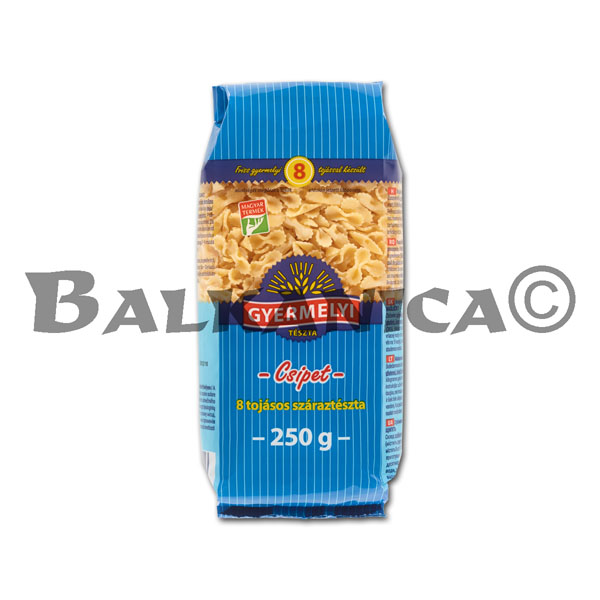 250 G PASTA LITTLE BOW WITH 8 EGGS GYERMELYI