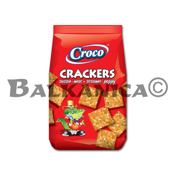 100 G CRACKERS SESAME AND POPPY CROCO