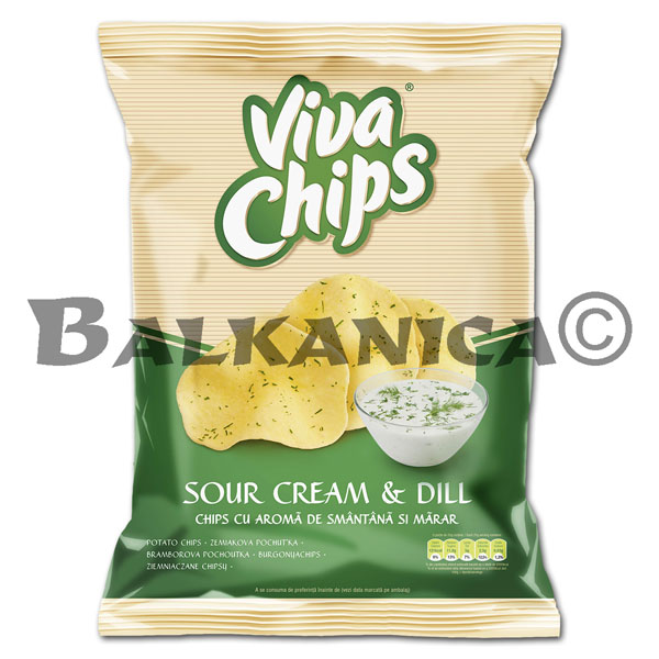100 GR CHIPS CREAM AND DILL VIVA
