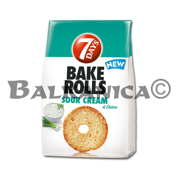 80 G BAKE ROLLS SOUR CREAM AND ONION 7 DAYS