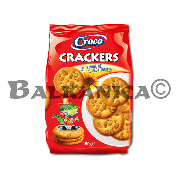 150 G CRACKERS WITH SUNFLOWER SEEDS CROCO