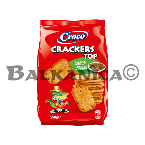 150 G GALLETAS CON ALCARAVEA TOP CROCO