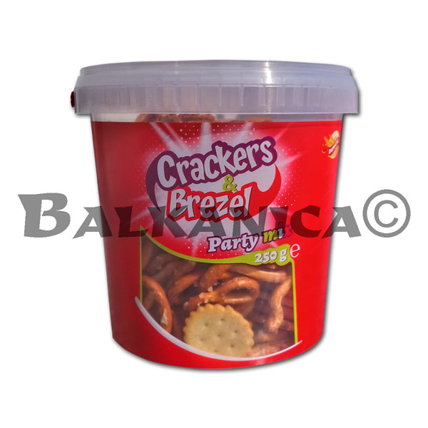 250 G GALLETAS&PRETZELS PARTY MIX CUBO MINI DUNICEC