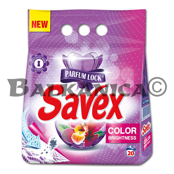 2 KG DETERGENTE COLOR BRILLANTE AUTOMATICO SAVEX